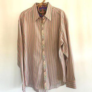 Robert Graham Long Sleeve Stripe Shirt 2XL
